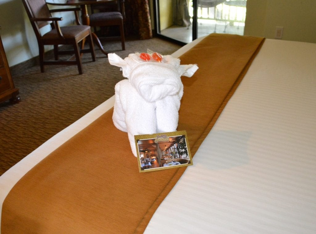 Dog Friendly Paso Robles Inn Towel Cow