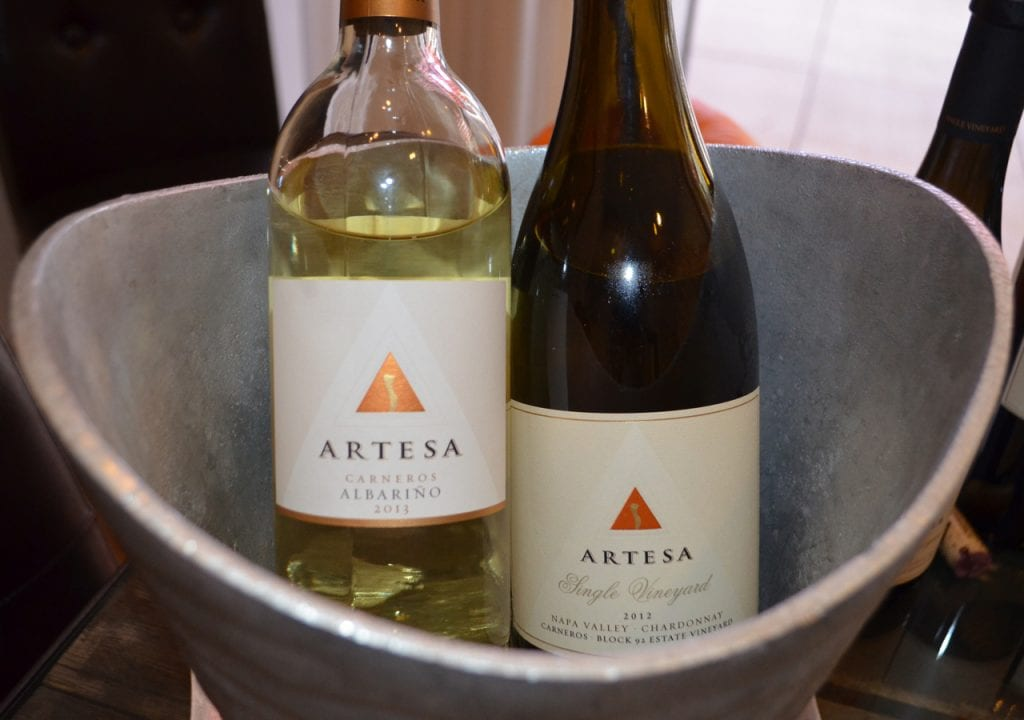 Artesa Albarino and Chardonnay