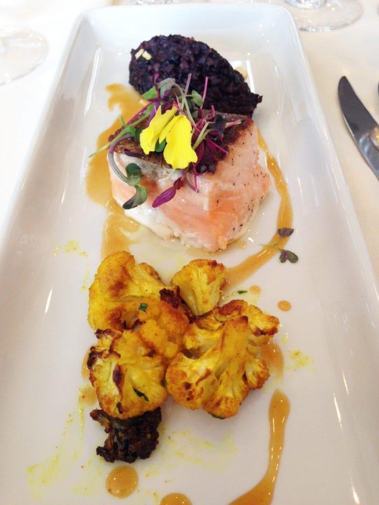 West Restaurant Honey Glazed Salmon