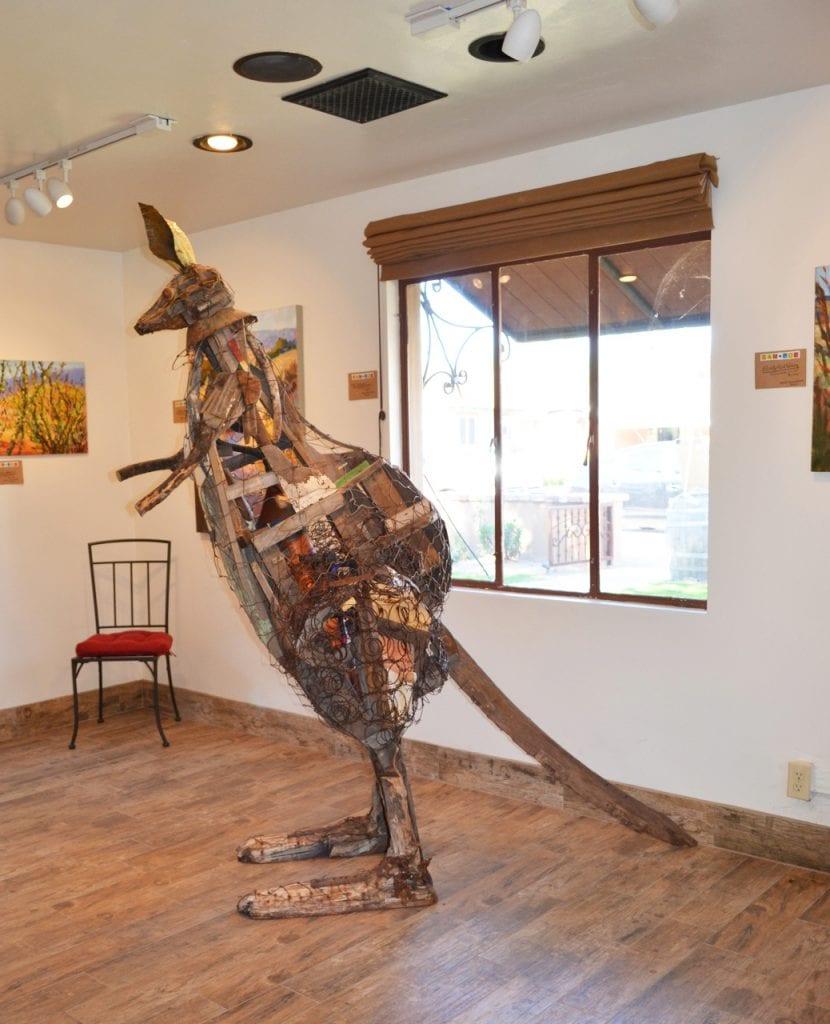 Kangaroo Sculpture - Lawrence Dunham Vineyards