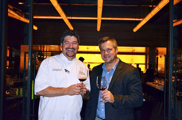 Ocean Prime Chef Matthew Briggs and Winemaker Marcus Notaro Stag's Leap Wine Cellars