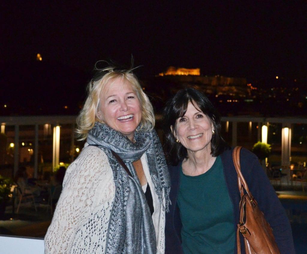 Barbara and Cori Athens Day One
