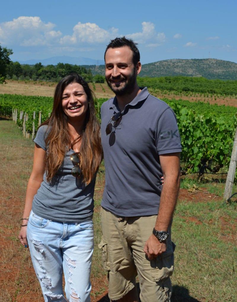 Christos Taralas and Nikoleta Tarala - Elinos Vineyards