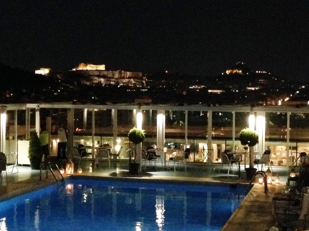 Acropolis Nighttime View
