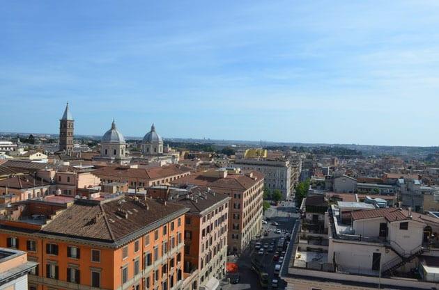 Rome Vista from Hotel Mediterraneo