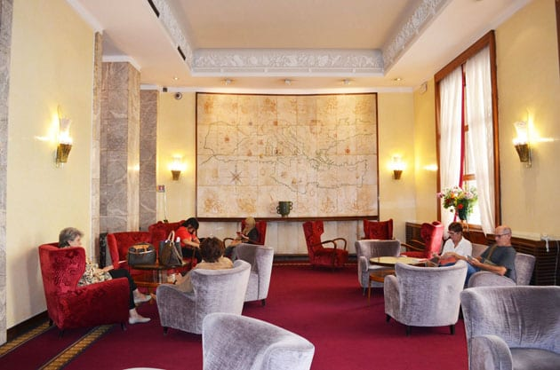 The Map Room at Hotel Mediterraneo