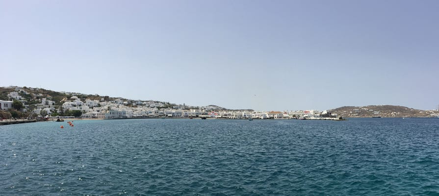 The coast of Mykonos