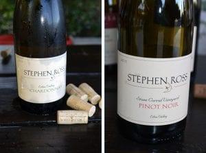 Stephen Ross Chardonnay and Pinot Noir