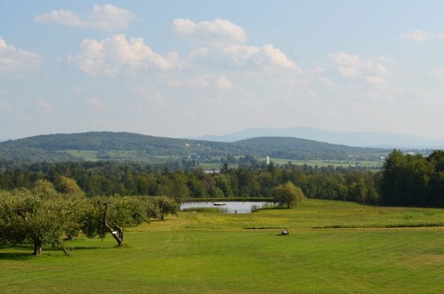 Eastern Townships view to the US Border from Domaine Pinnacle