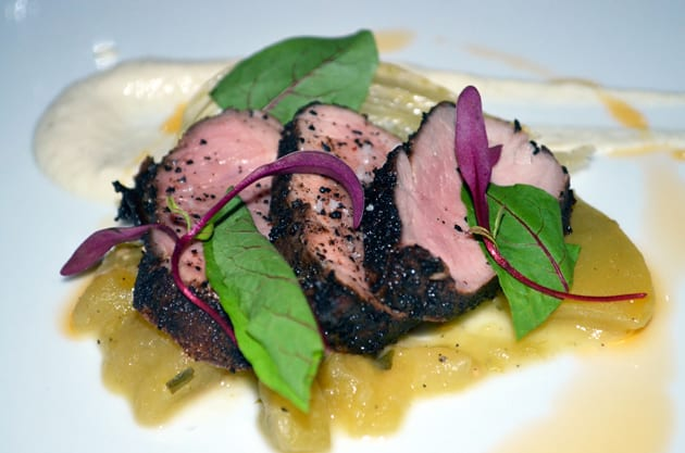 Coffee Crusted Pork Tenderloin, Cafe Del Rey Cuisine