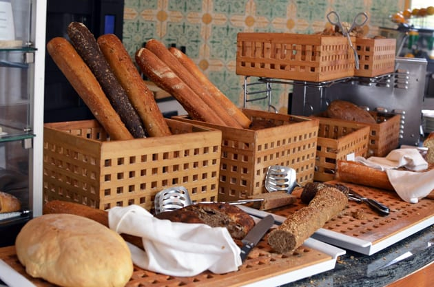 Homemade Bread Table at the Hotel Adler