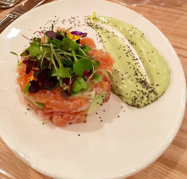 Salmon Tartare at Obica Santa Monica