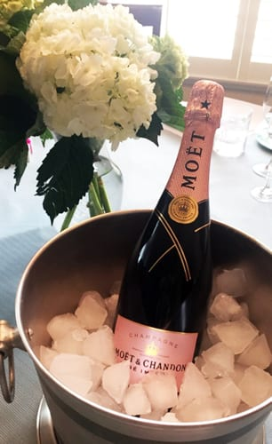 Moét Rosé Impérial on Ice