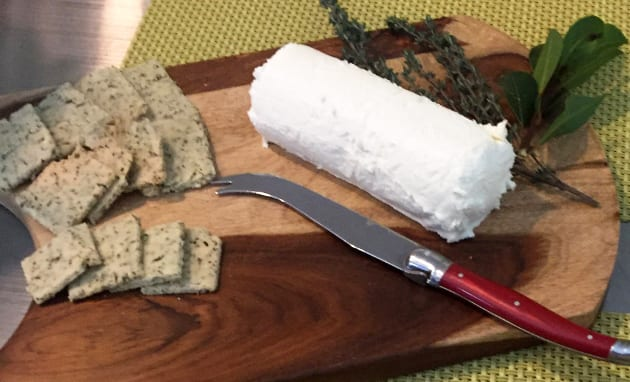 chevre and herb crackers
