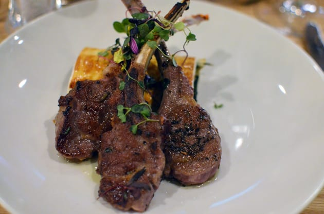 Obica Agnello - Lamb Chops Scottadito with Spinach Strudel