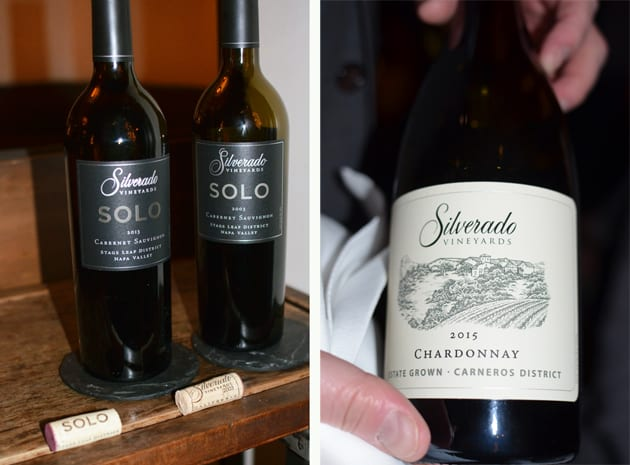 Silverado Vineyards Chardonnay and Cabernet Sauvignon