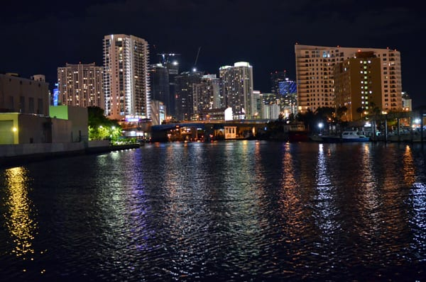 Night Miami Skyline View