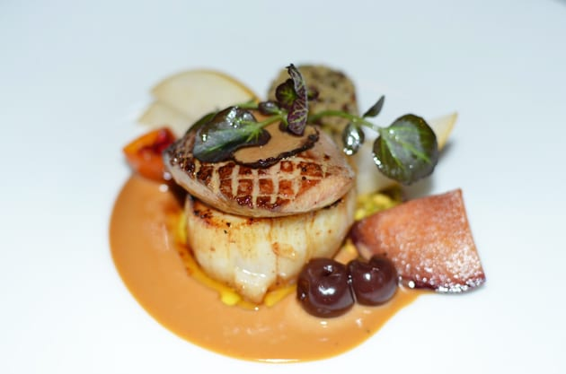 Marine Room Fennel Pollen Roasted Maine Diver Scallop and Foie