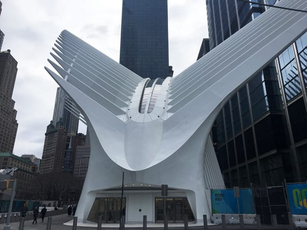 Visit New York City Oculus Exterior