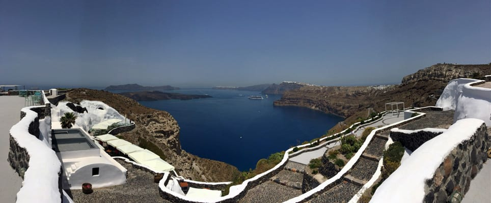 View from Venetsanos Winery in Santorini