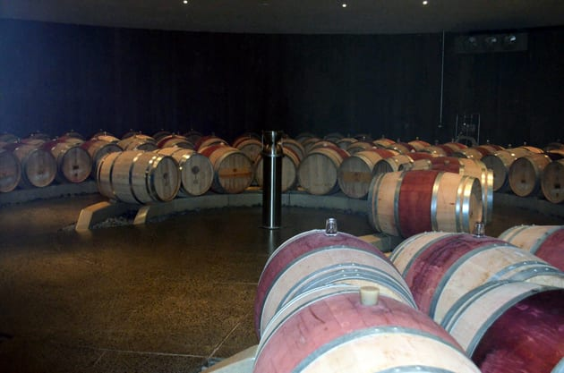 Boxwood Estate Winery Barrel Room