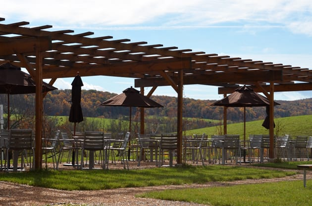Chrysalis Vineyards outside patio