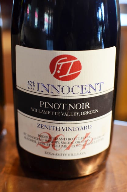 St Innocent Pinot Noir Zenith Vineyard