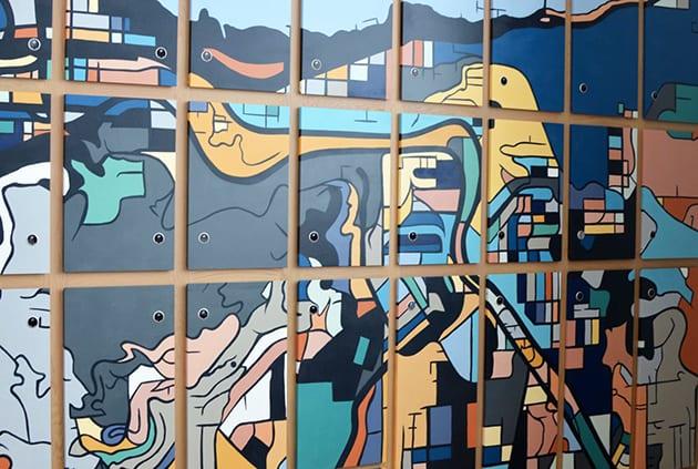 Locker Art at the Canopy by Hilton