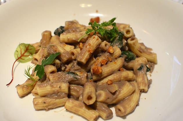 Mushroom Broth Pappardelle Pasta