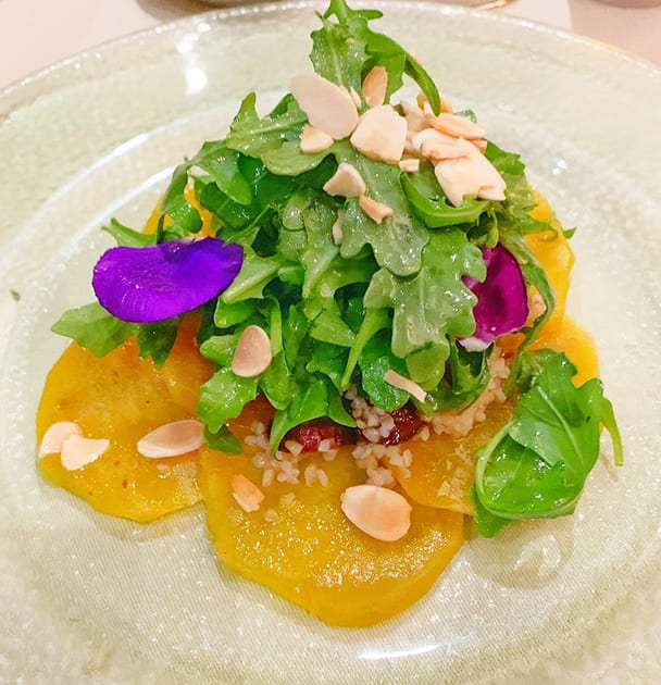 Caxambas Restaurant Naples Florida - Golden Beet Carpaccio