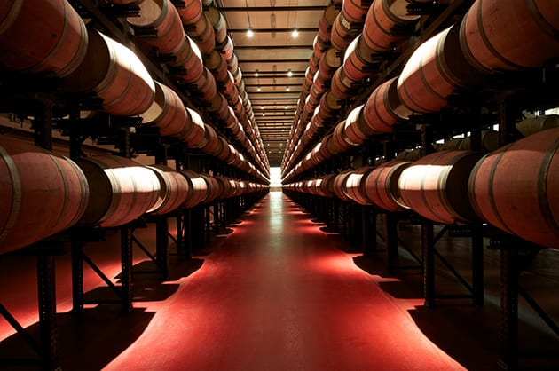 Abadia Retuerta winery-Casks cellar