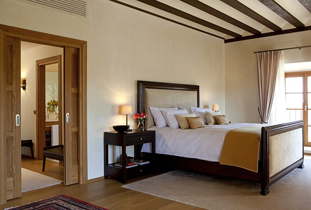 Master suite at Abadia Retuerta LeDomaine