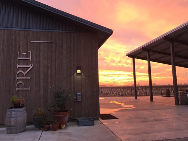 Prie Winery and Vineyards at Sunrise