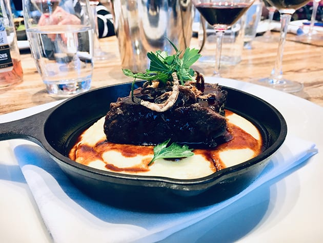 Napa Valley Grille Slow-braised short rib with goat cheese polenta