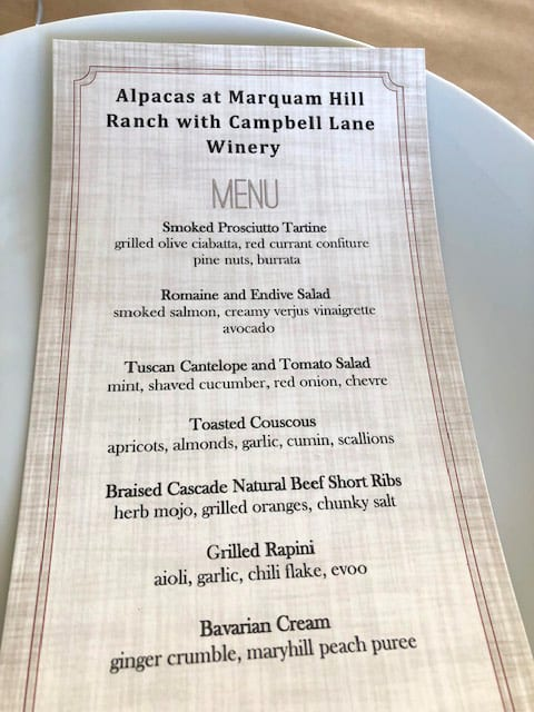 Field & Vine Farm to Table Menu