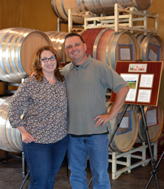 David and Sara Spector, Bells Up Winery