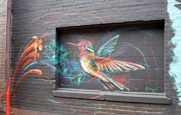 Hummingjewel Mural Corvallis, Oregon