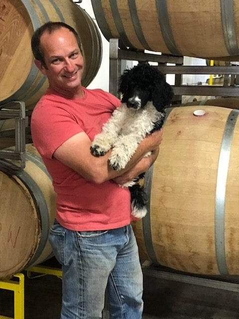 Iris Vineyards winemaker Aaron Lieberman