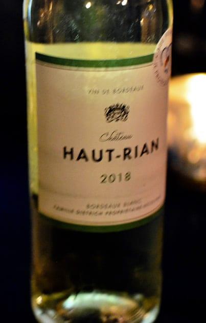 Bordeaux Wine Chateau Haut-Rian