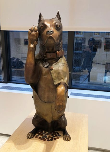 Bronze Dog Sculpture