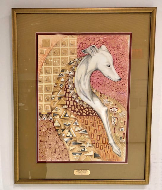 Dog in Gold - Tribute to Gustav Klimt