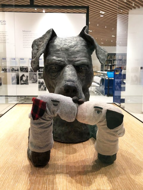 Humorous Dog Sculpture