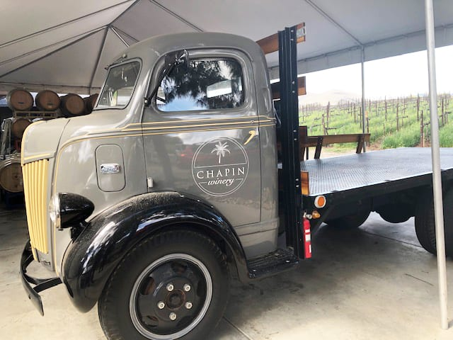 Chapin Family Vineyards Winery Truck