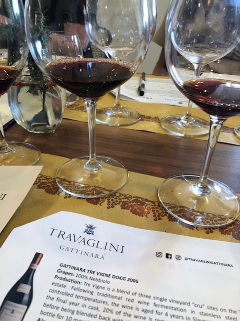 Travaglini Gattinara Glasses of Tre Vigne