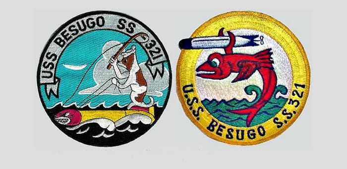 USS Besugo SS 321 Patches