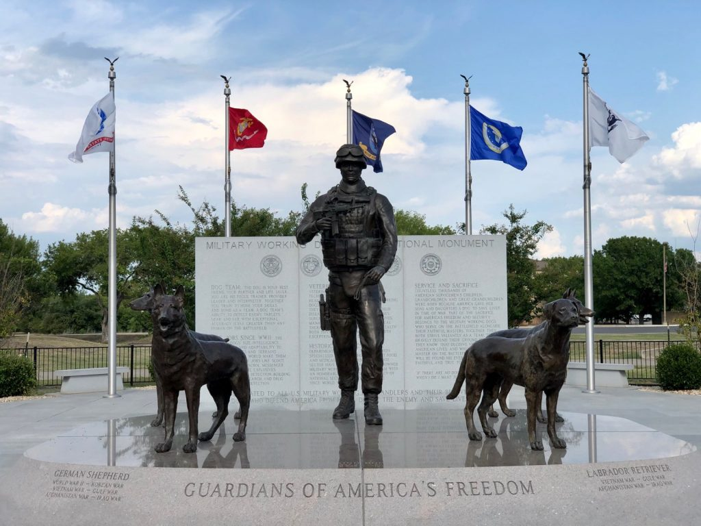 MWDT Monument © MSgt Steven Kaun USAF:USSF Military Working Dog Program Manager - Unsung Heroes