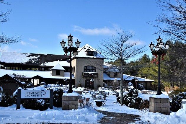 Chateau Morrisette Winery - Winter Blue Ridge Mountains